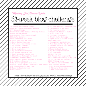 MFRW Blog Challenge bucket list